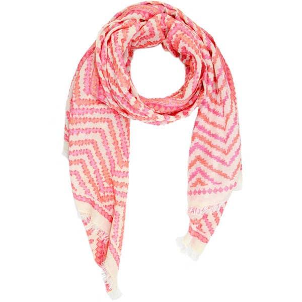 Handmade Veroma Women's Zigzag Cotton Scarf (India)