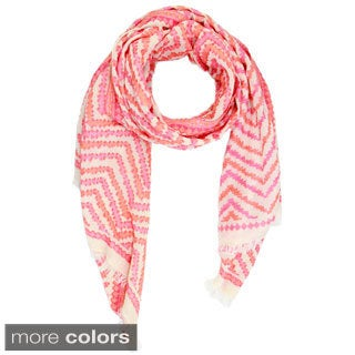 Handmade Saachi Women's Zigzag Cotton Scarf (India)