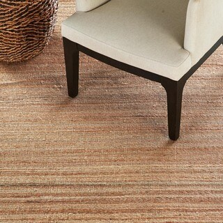 Naturals Solid Pattern Brown/ Tan Area Rug (8' x 10')