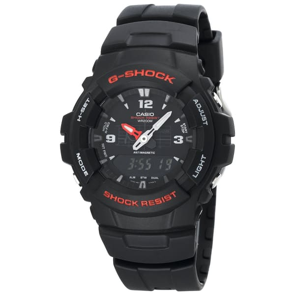 5b02c9b6c Shop Casio Men's G100-1BV G-Shock Classic Ana-Digi Watch - Black ...