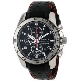 Seiko Men's SNAE65 Stainless Steel Alarm Chronograph Watch