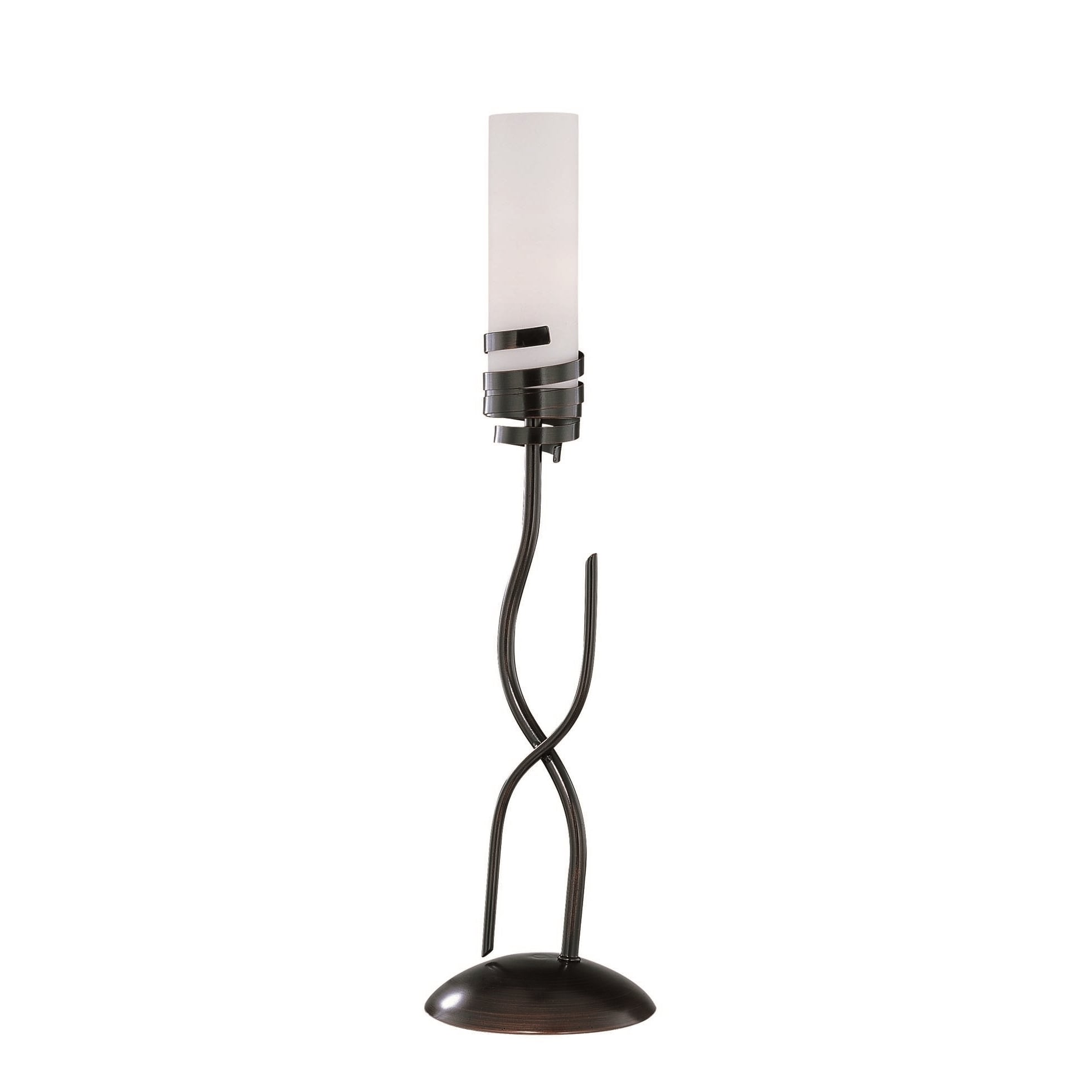 Lite Source Espiral Table Lamp (Dark Bronze, Frosted), Br...