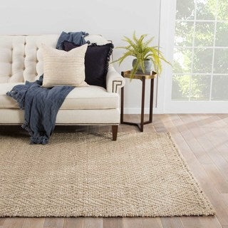 Naturals Geometric Pattern Brown/ Ivory Area Rug (9' x 12')
