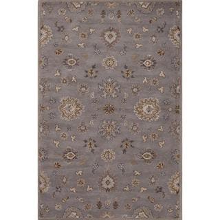 Hand-Tufted Oriental Pattern Grey/ Grey Area Rug (9' x 12')