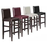 Kendall Contemporary Wood w/ Faux Leather Barstool (Set of 2)