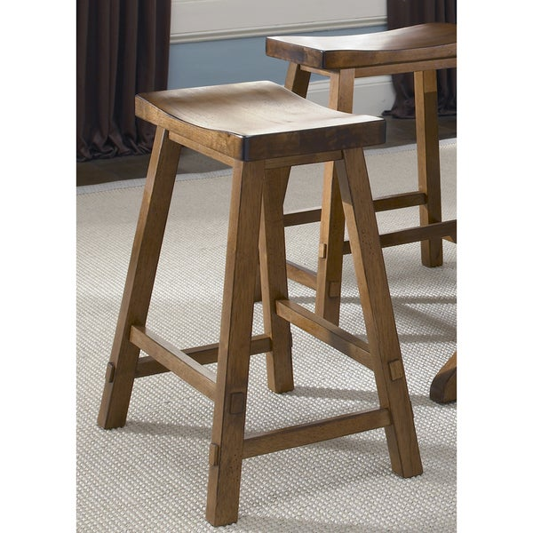 Creations Lifestyle Tobacco Sawhorse Barstool Free