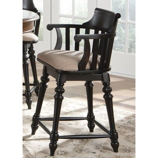 Crystal Lakes Black Swivel Padded Barstool