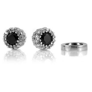 Cubic Zirconia No-pierce Magnetic Stud Earrings