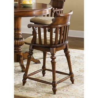 Crystal Lakes Toffee Swivel Padded Barstool