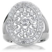 Sterling Silver Cubic Zirconia Vampire Wedding Ring