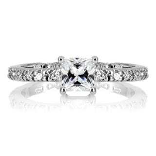 Sterling Silver Princess Cut Cubic Zirconia Promise Ring