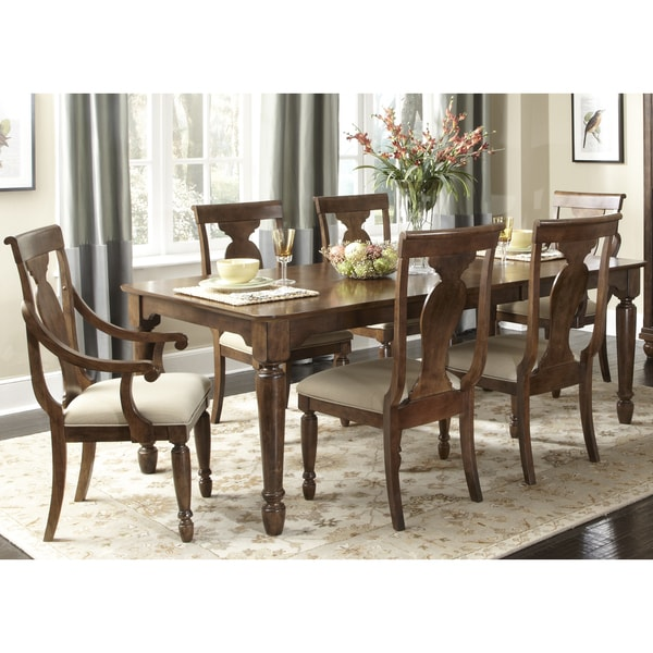 Rustic Tradition Cherry Rectangular Dinette Table Brown