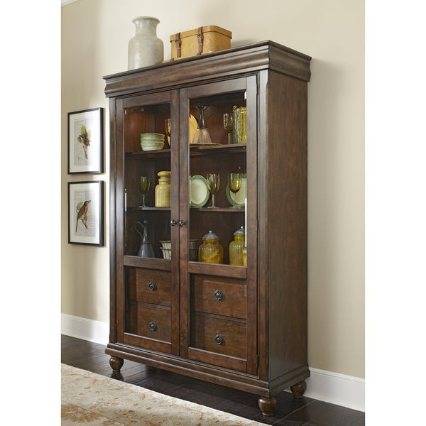 Rustic Tradition Cherry Display Cabinet Free Shipping
