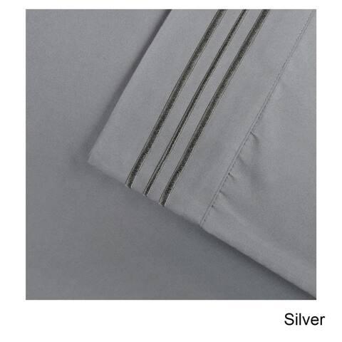 Superior Wrinkle Resistant Emboidered Microfiber Deep Pocket Sheet Set