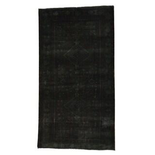 Handmade Oriental Overdyed Worn Persian Hamadan Rug (3'6 x 6'7)