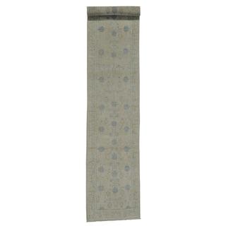 XL Washed Out Oriental Khotan Handmade Runner Rug (2'5 x 13'6)