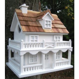 Colonial Cottage White Birdhouse|https://ak1.ostkcdn.com/images/products/10030238/P17175631.jpg?impolicy=medium