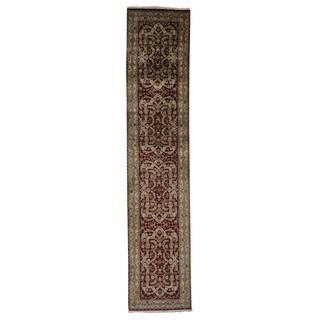 XL Tabriz Revival New Zealand Wool Handmade Runner Rug (2'8 x 12'9)