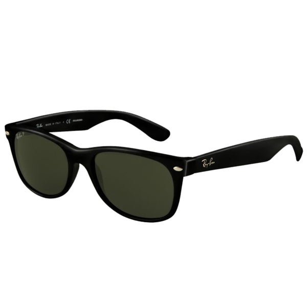 Ray-Ban Unisex RB2132 Black Wayfarer Sunglasses - 55 mm(As Is Item)