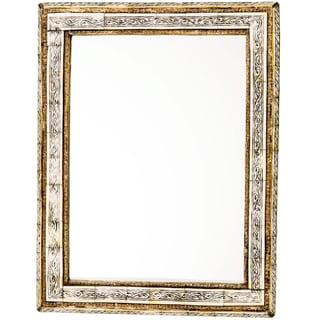 "20"" Moroccan Carved Bone Mirror"