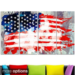 Design Art 'Abstract US Flag' - Canvas Art