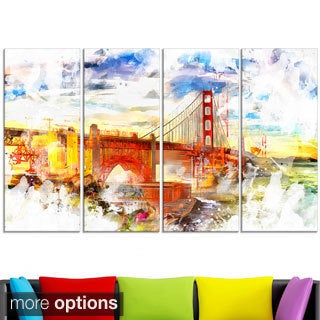 Design Art 'Colorful San Francisco' Canvas Art