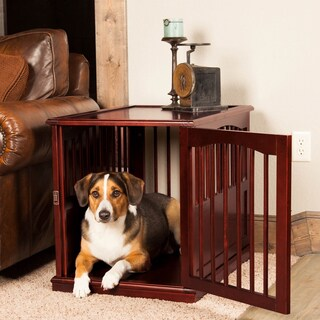 Primetime Petz Brown Wood End Table Pet Crate