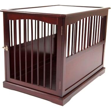 Primetime Petz Wood End Table Pet Crate (Large), Brown
