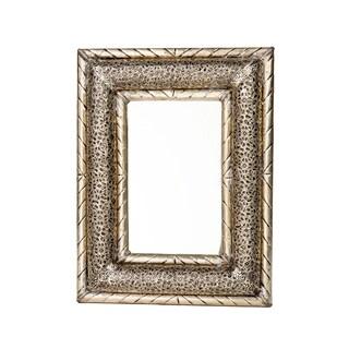 13-inch Dimensional Handmade Moroccan Metalwork Mirror (Morocco)