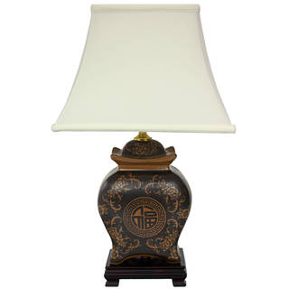 Handmade Pagoda Jar Oriental Lamp (China)