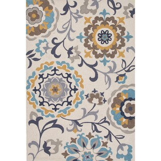 Hand-tufted Floral Brown/ Brown Rug (2' x 3')
