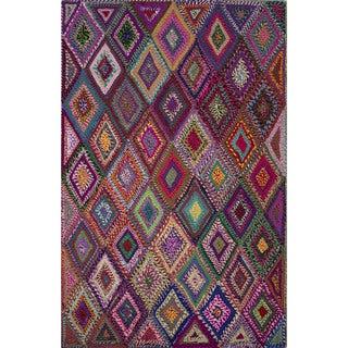 Textured Geometric Pattern Multi/ Multi Area Rug (2' x 3')