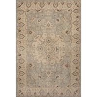 Hand-Knotted Medallion Blue Area Rug (2' X 3')