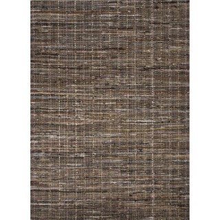 Solids/ Handloom Solid Pattern Brown/ Brown Area Rug (2' x 3')