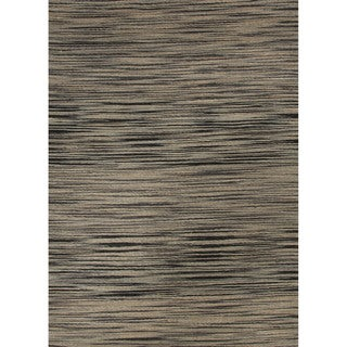 Natural Solid Gray/ Silver Area Rug (2' X 3')