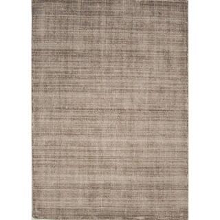 Solids/ Handloom Solid Pattern Brown/ Tan Area Rug (2' x 3')