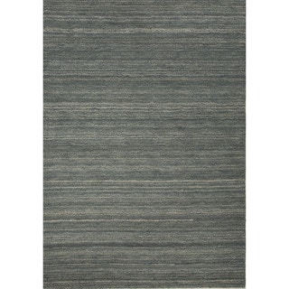 Solids/ Handloom Solid Pattern Blue/ Blue Area Rug (2' x 3')