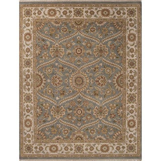 Hand Made Blue Brown Wool Easy Care Rug 9x12 15847762