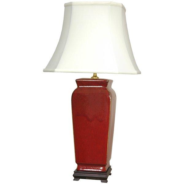 Porcelain Oxblood Vase Oriental Lamp (China)