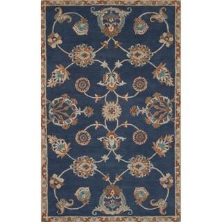 Handmade Oriental Blue Area Rug (8' X 11')