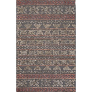 Hand-Tufted Argyle Pattern Grey Rug (8' x 11')