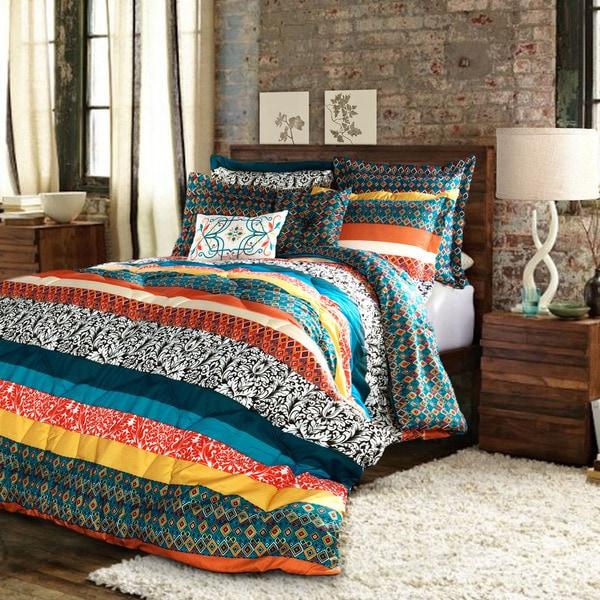 The Curated Nomad La Boheme Boho Stripe 7-piece Comforter Set