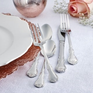 RiverRidge Home Bouquet 46-piece Flatware Set