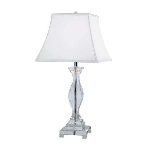 Cambridge Polished Chrome Finish 26 in. Table Lamp With A White Shade
