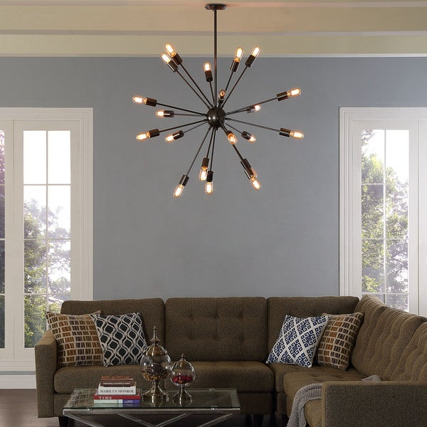 Beam stainless steel chandelier free shipping today overstock beam stainless steel chandelier mozeypictures Gallery