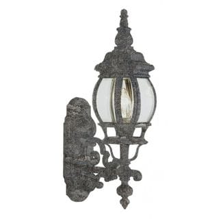 Cambridge Swedish Iron Finish Outdoor Wall Lantern With a Beveled Shade