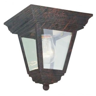Cambridge Black Copper Finish Flush Mount With A Clear Beveled Shade