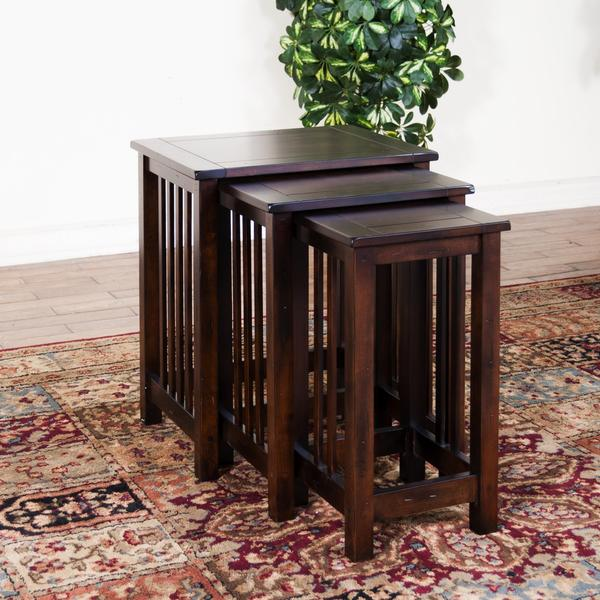 Santa Fe 3 Piece Nesting Table Set