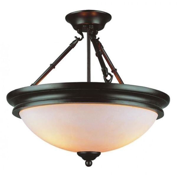 Shop Cambridge 3 Light Rubbed Oil Bronze 18 In Semi Flush