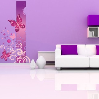 Floral Butterfly Swirls Vinyl Wall Decals